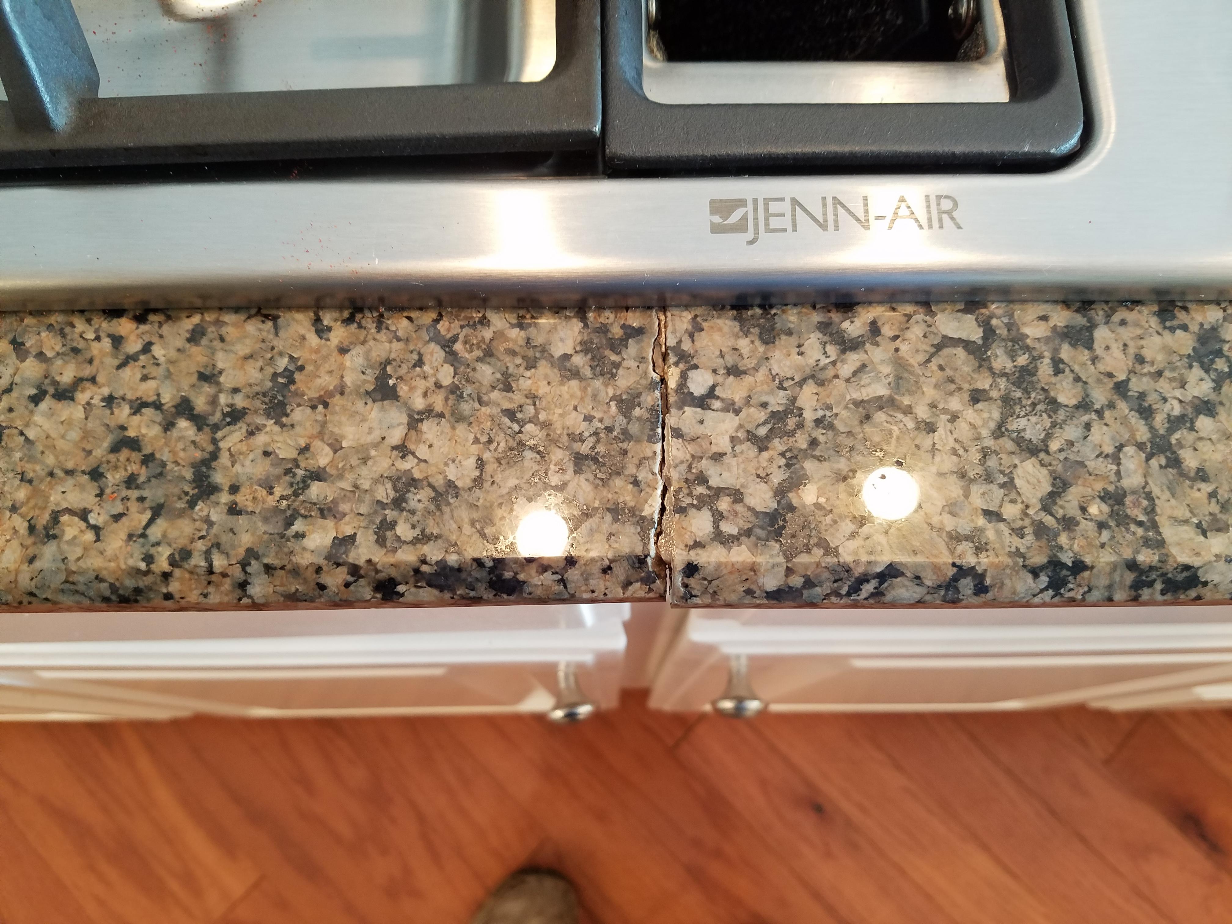granite countertops new emerald got white floor hardwood the seal pin pearl installed cabinets dark