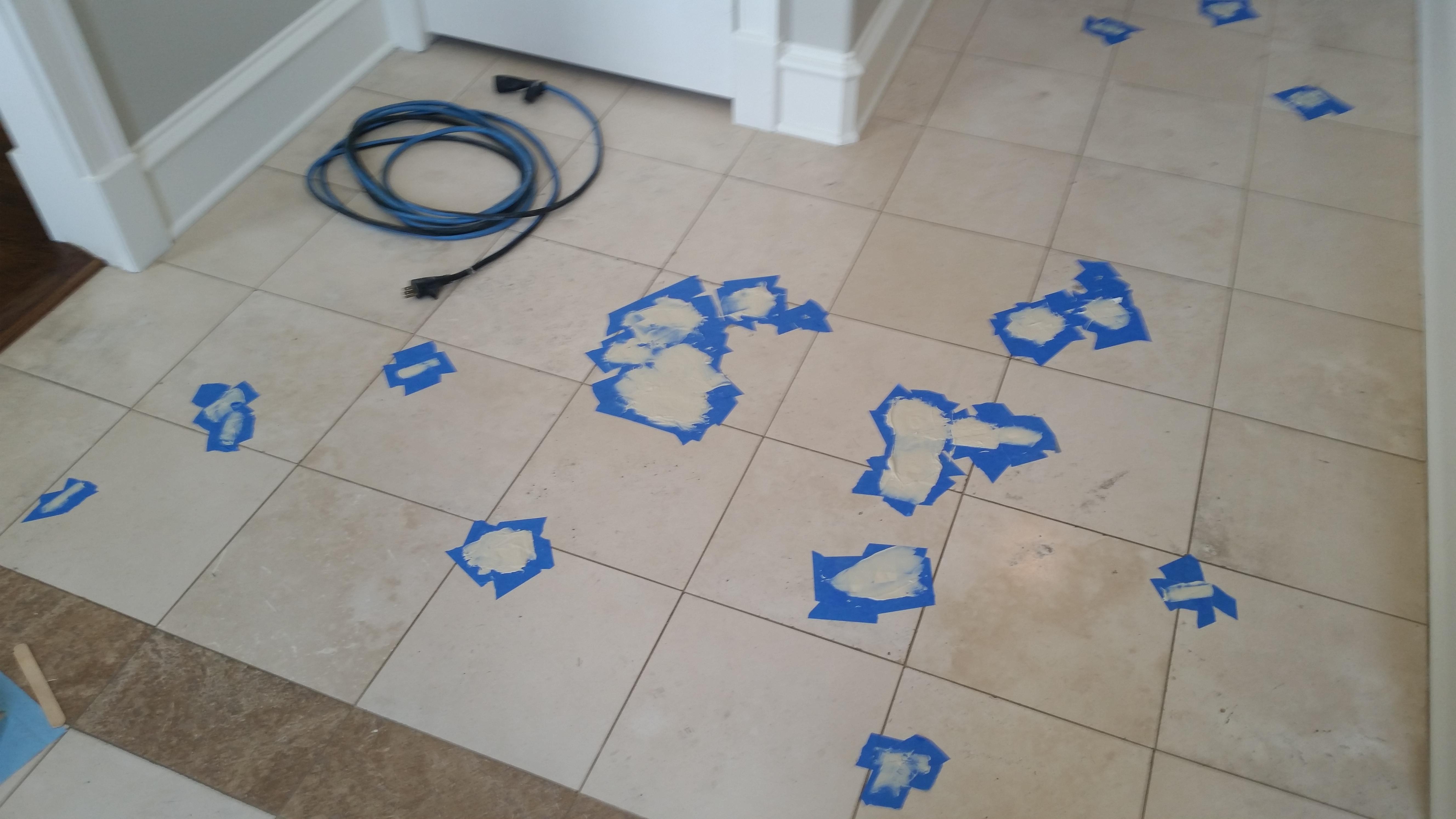 Travertine Floor Holes