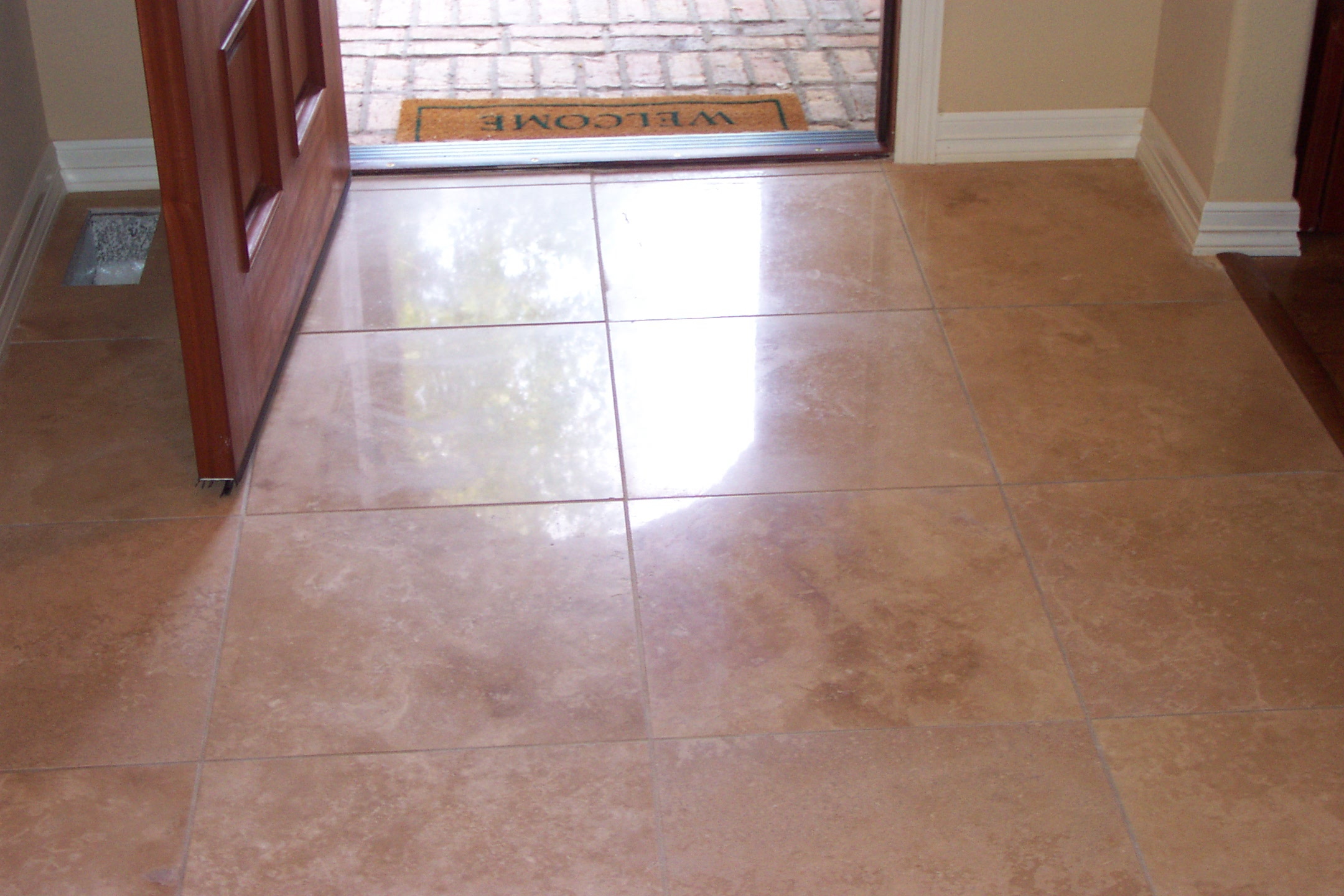 Polished Travertine Floors Can Be To A Stain Semi Gloss Or High Finish Depend On The Stone And Possible Obtainable Desired